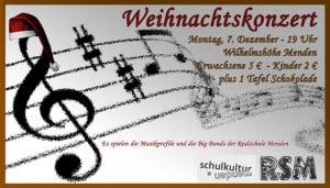 Das Weihnachtskonzert der Realschule Menden findet am 7. Dezember auf der Wilhelmshöhe statt.
